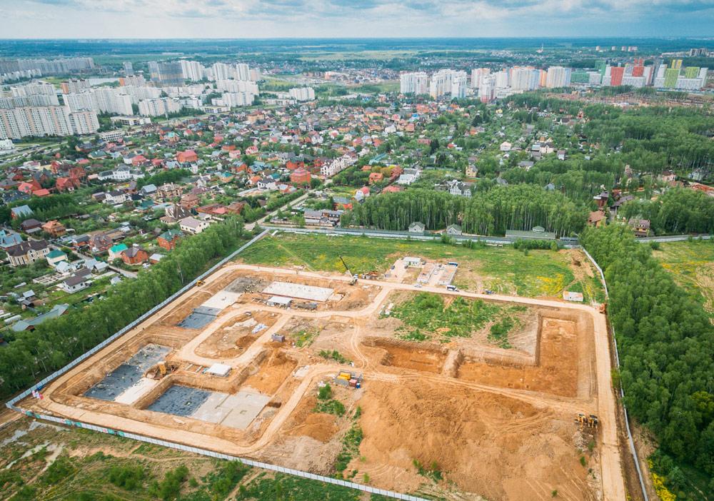 Строительная площадка жилого комплекса в районе Южное Бутово