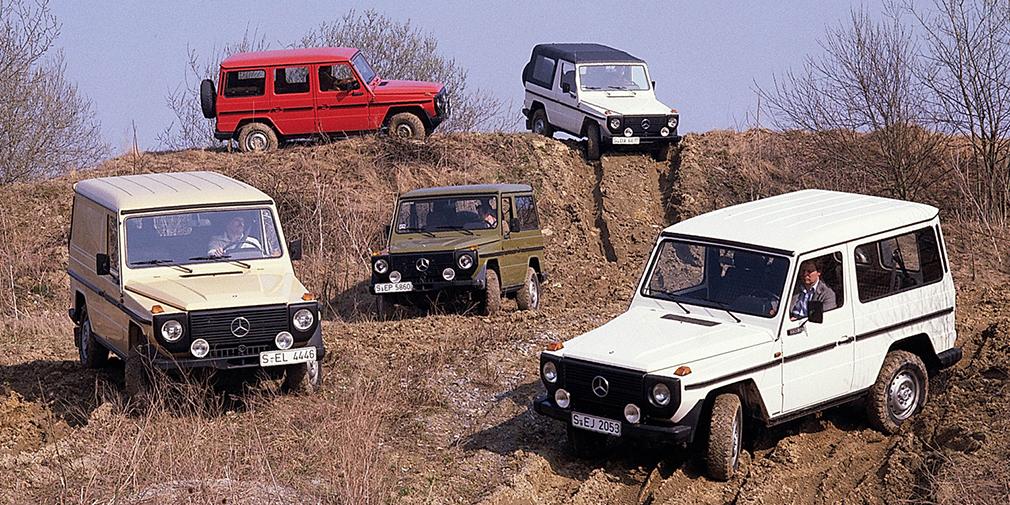 G-Class изначально разрабатывался совместно с компанией Steyr-Daimler-Puch как внедорожник для иранской армии. Затем шах Мохаммед Реза Пехлеви был свергнут. Стремясь окупить дорогостоящий проект, Mercedes, помимо военных машин, начал предлагать и гражданские версии. «Гелендваген» пошел в серию в 1979 г. и постепенно из утилитарного внедорожника превратился в роскошный и статусный автомобиль.