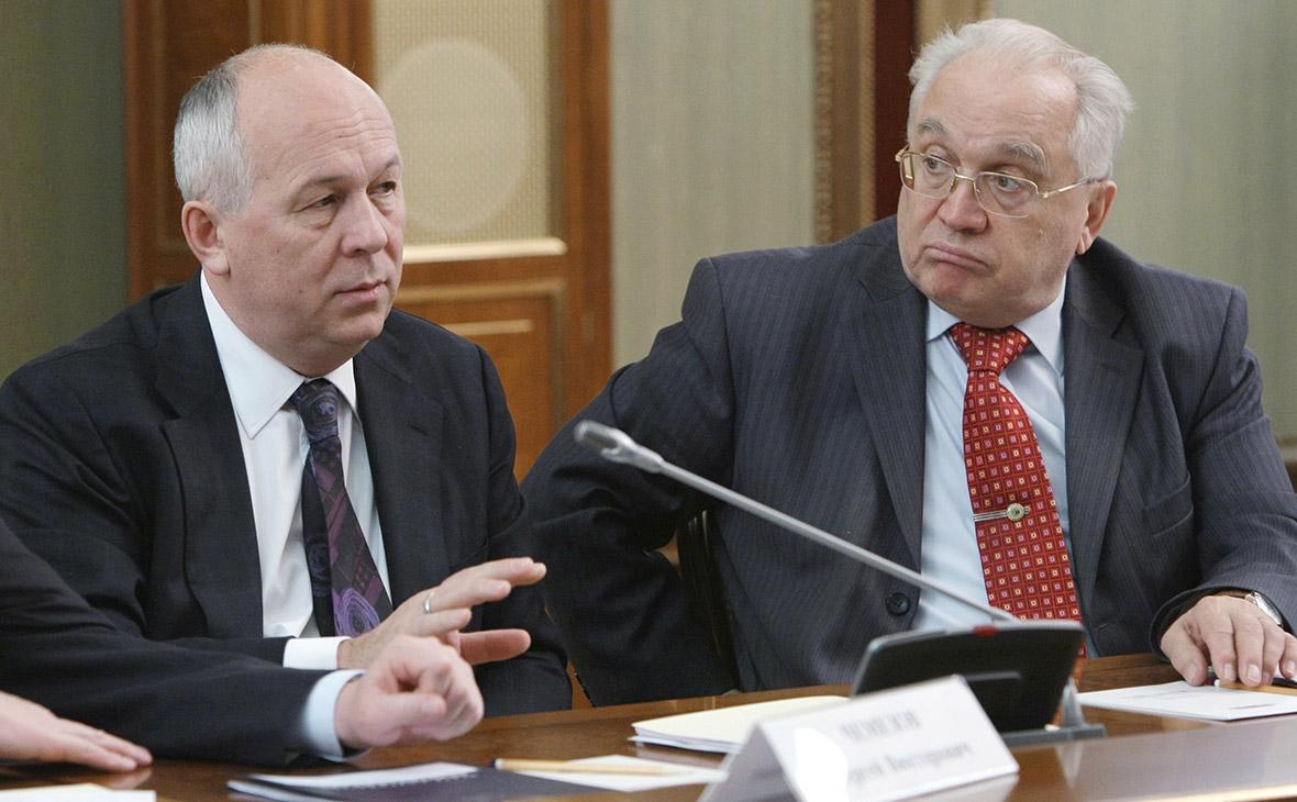 Сергей Чемезов и Виктор Садовничий (слева направо)