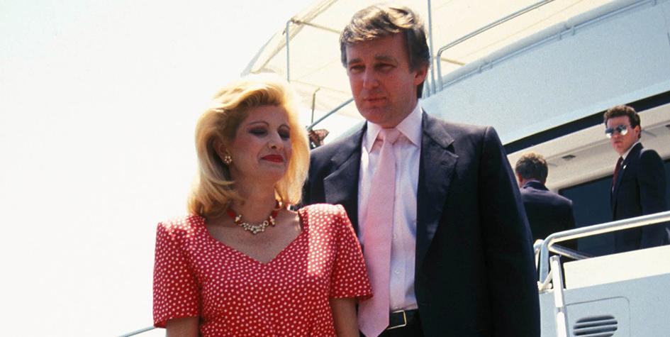 Супруги Трамп в 1988 году