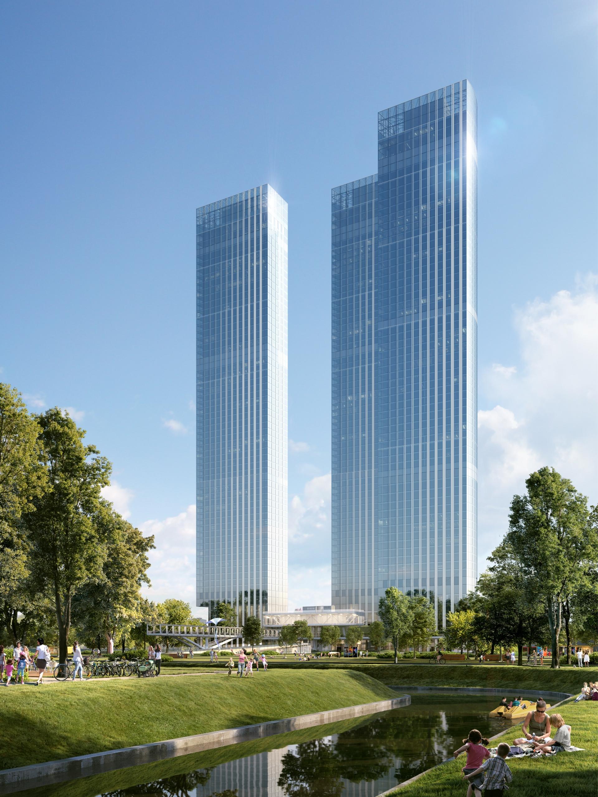 Capital Towers. Визуализация Capital Group