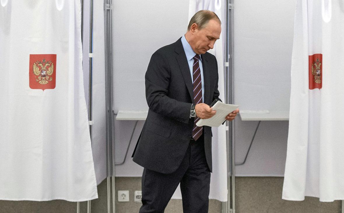 Владимир Путин на избирательном участке №2151