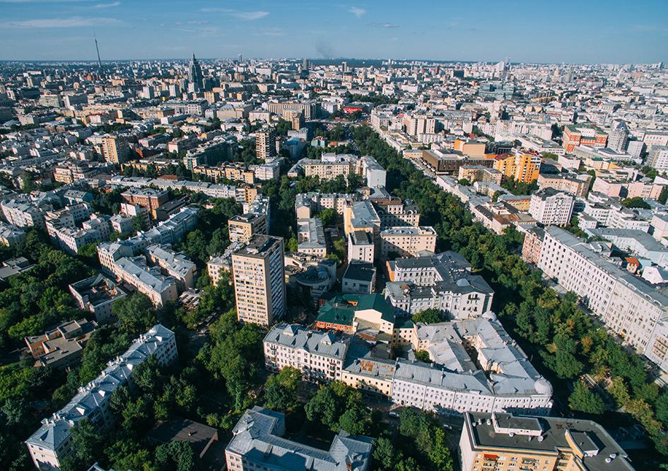 Вид на Тверской бульвар в ЦАО