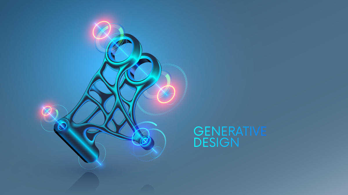 3D-модель металлической детали, выполненная с применением технологии Generative Design