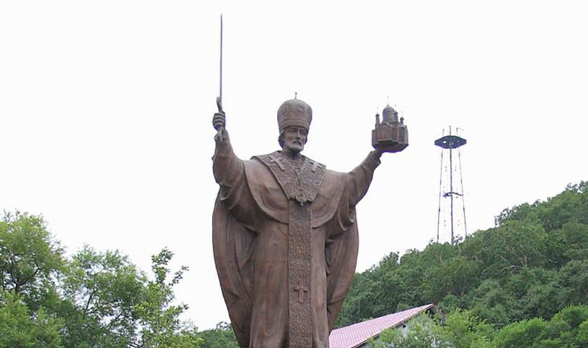Памятник Николаю Чудотворцу в Петропавловске-Камчатском