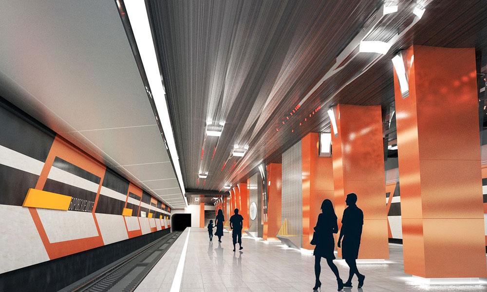 Станция «Боровская» Калининско-Солнцевской линии метро