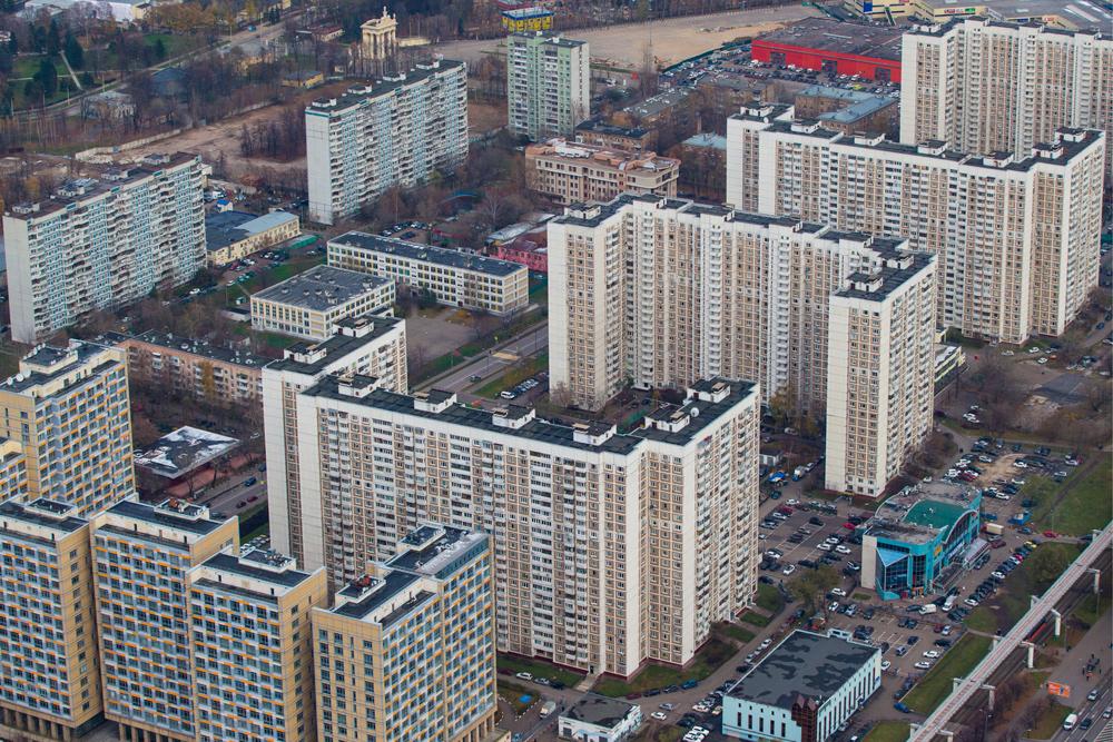 Вид на жилые дома района Останкино