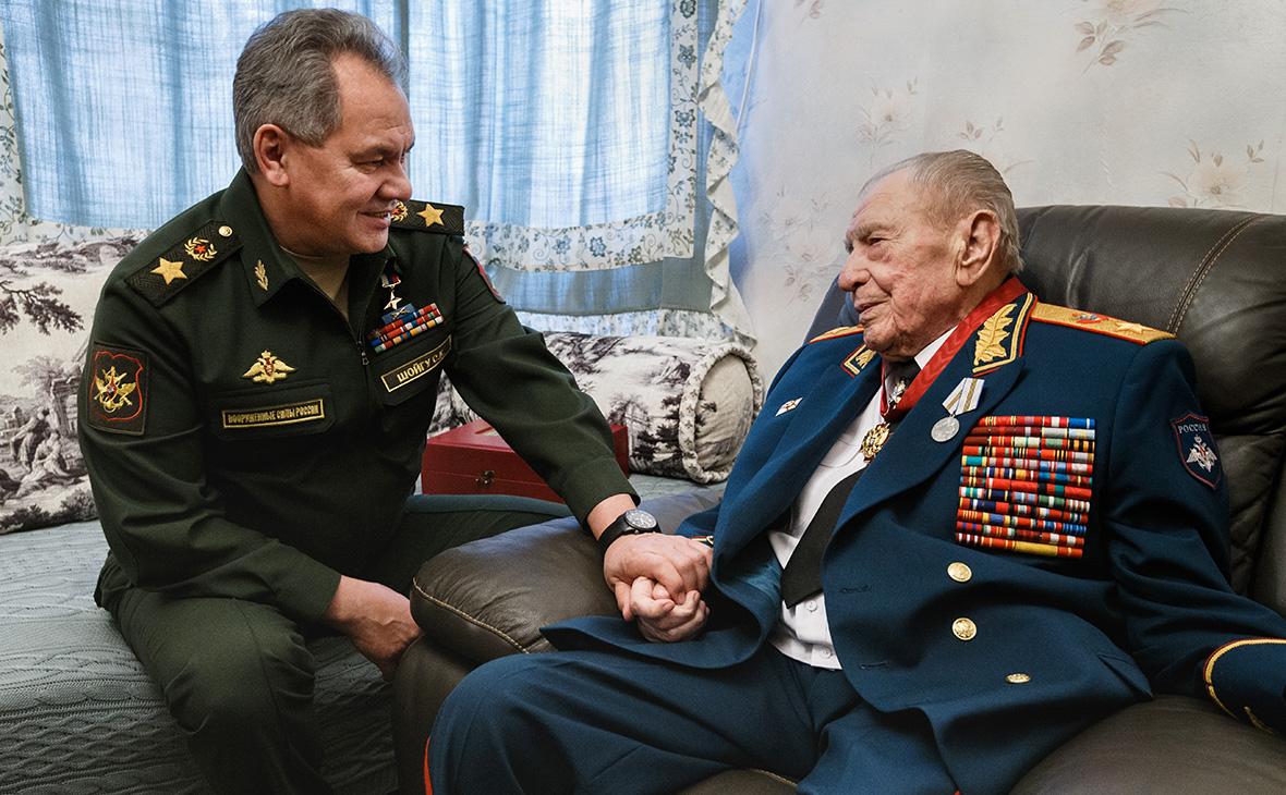 Сергей Шойгу и Дмитрий Язов