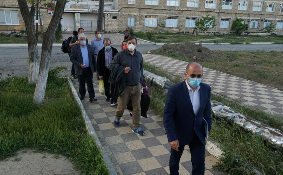 Прибывшие в Дагестан врачиМинздрава России