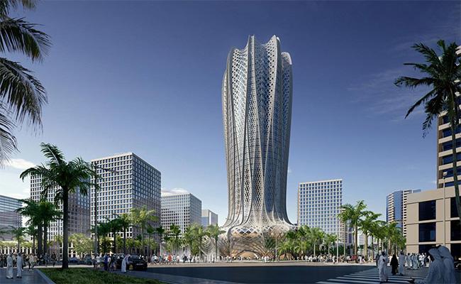 39-этажный отел в форме цветка расположится в строящемся городе Лусаил