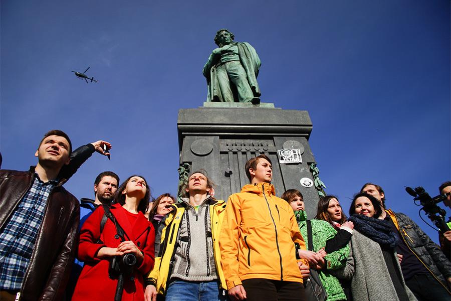 Участники акции в Москве