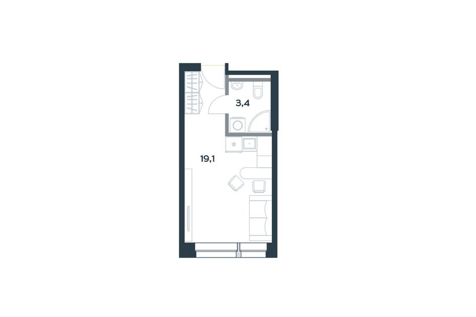 Студия площадью 22,5 кв. м в ЖК Citimix