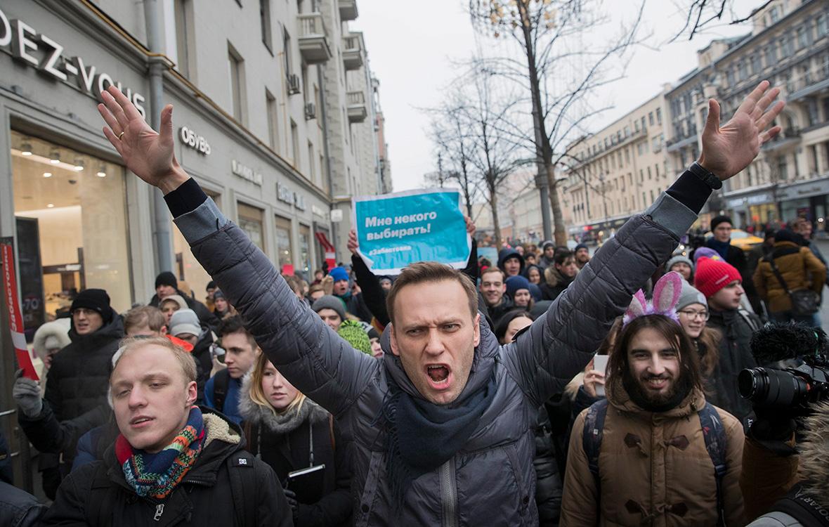 Навальный митинг. Силовики ищут всех участников акции