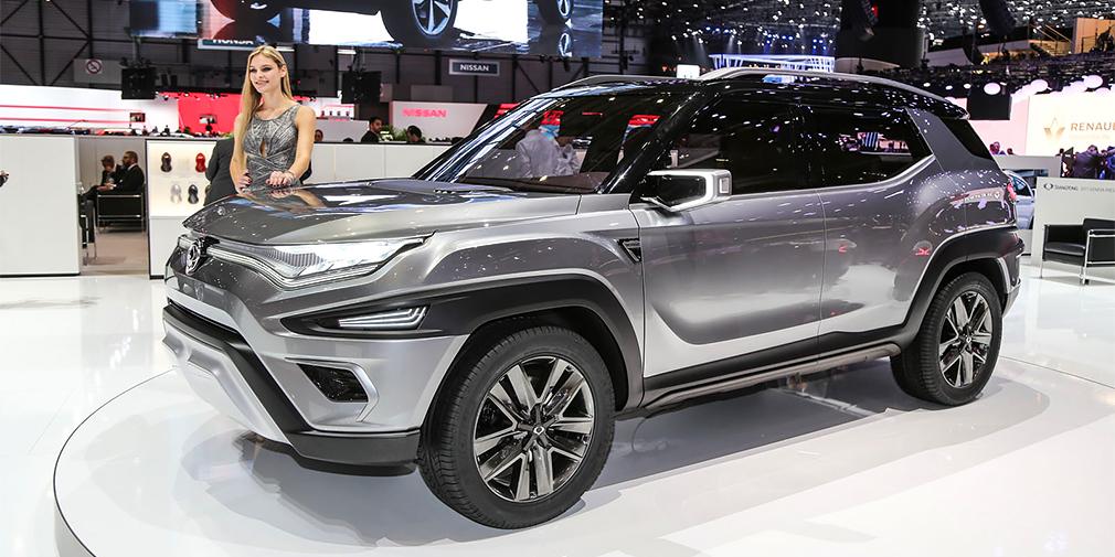 SsangYong XAVL  Еще один прототип будущего кроссовера корейской марки – на этот раз, в семиместном исполнении. По сути, это тот же SsangYong XAV образца 2015 г. с удлиненной колесной базой. Серийная модель займет место между Korando и новым Rexton, но появится не ранее 2020 года. Машина длиной более 4,6 м получит 1,5-литровый бензиновый и 1,6-литровый дизельный двигатели.