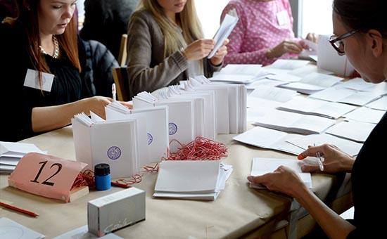 Подсчет бюллетеней на выборах в Финляндии
