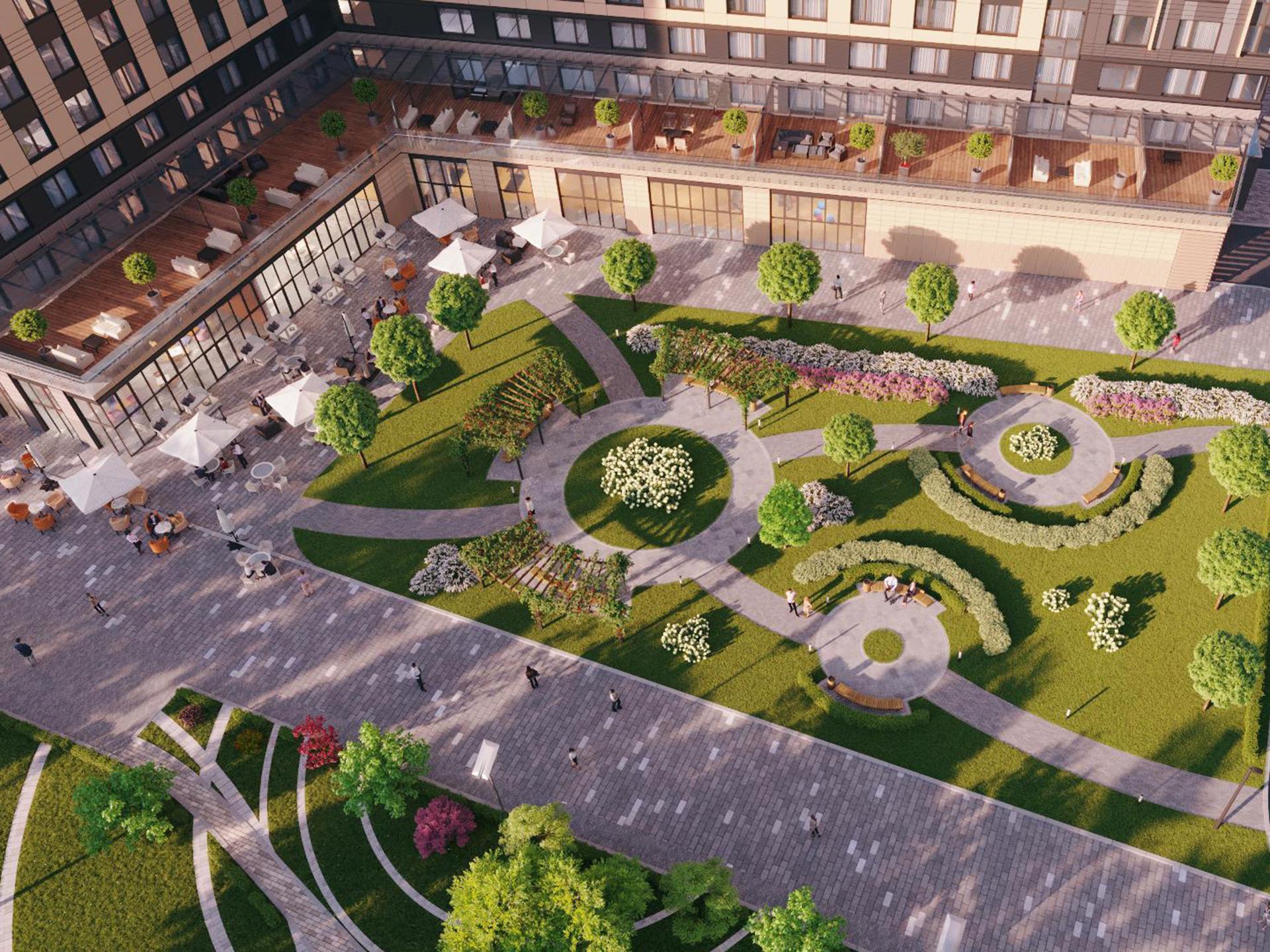 Апартамент One bedroom terrace в YE'S Botanica