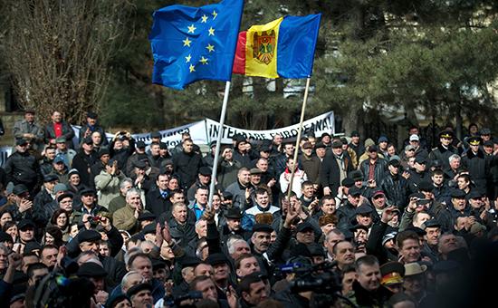 Акция протеста вКишиневе