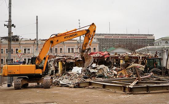 Снос торговых павильонов возлестанции метро «Сухаревская»