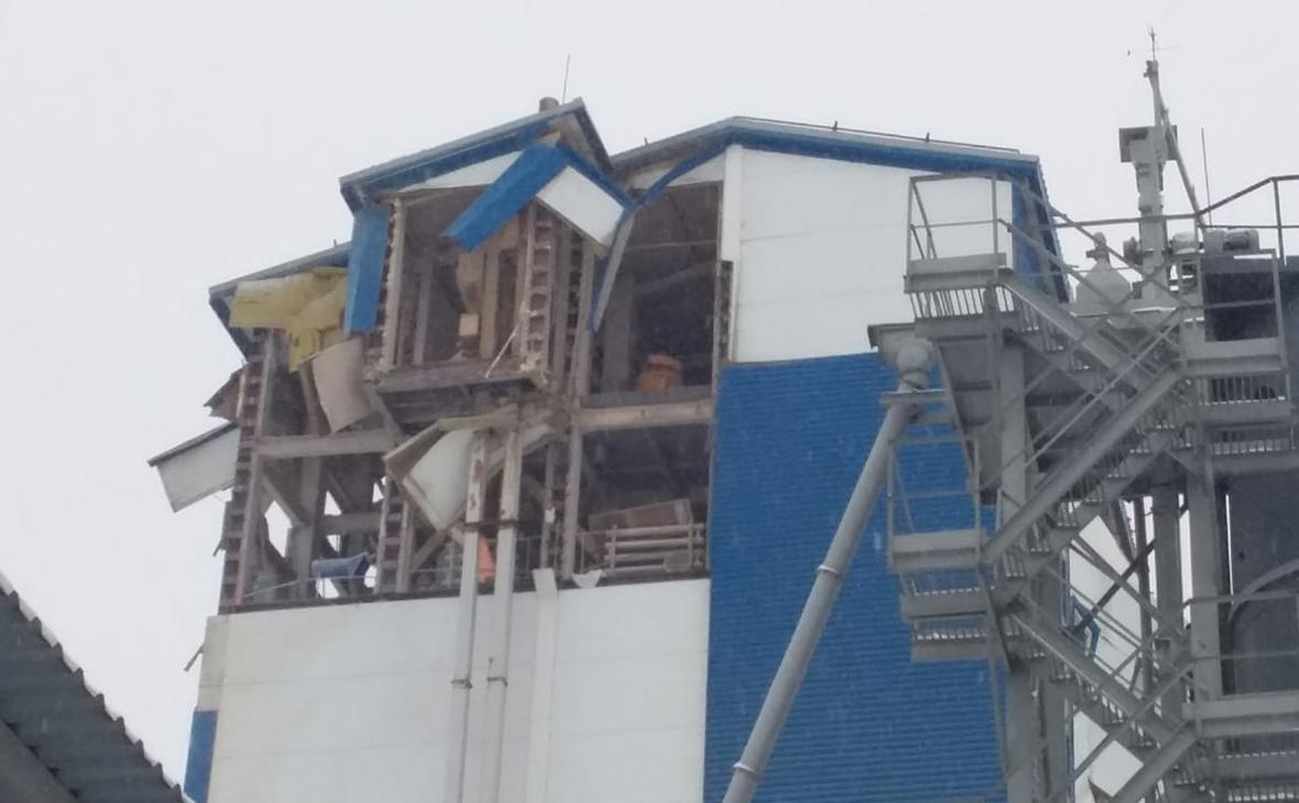 В Новосибирске частично разрушилось производственное здание