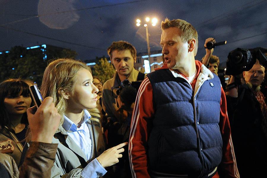 Ксения Собчак и Алексей Навальный