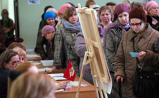 Соискатели на ярмарке вакансий в Московской области. Март 2017 года
