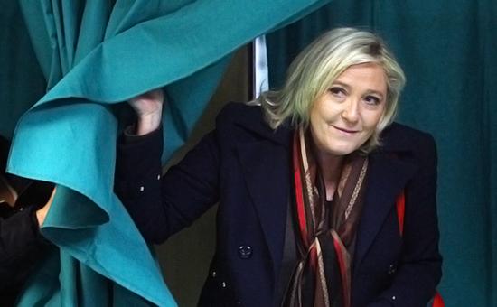 Глава французской партии «Национальный фронт» Марин Ле Пен