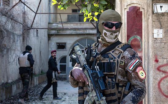 Военнослужащий иракской армии в Мосуле