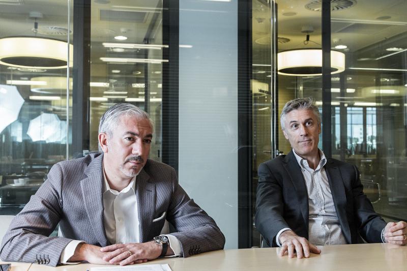 Основатель и управляющий партнер Baring Vostok Майкл Калви (справа) и партнер Baring Vostok Ваган Абгарян