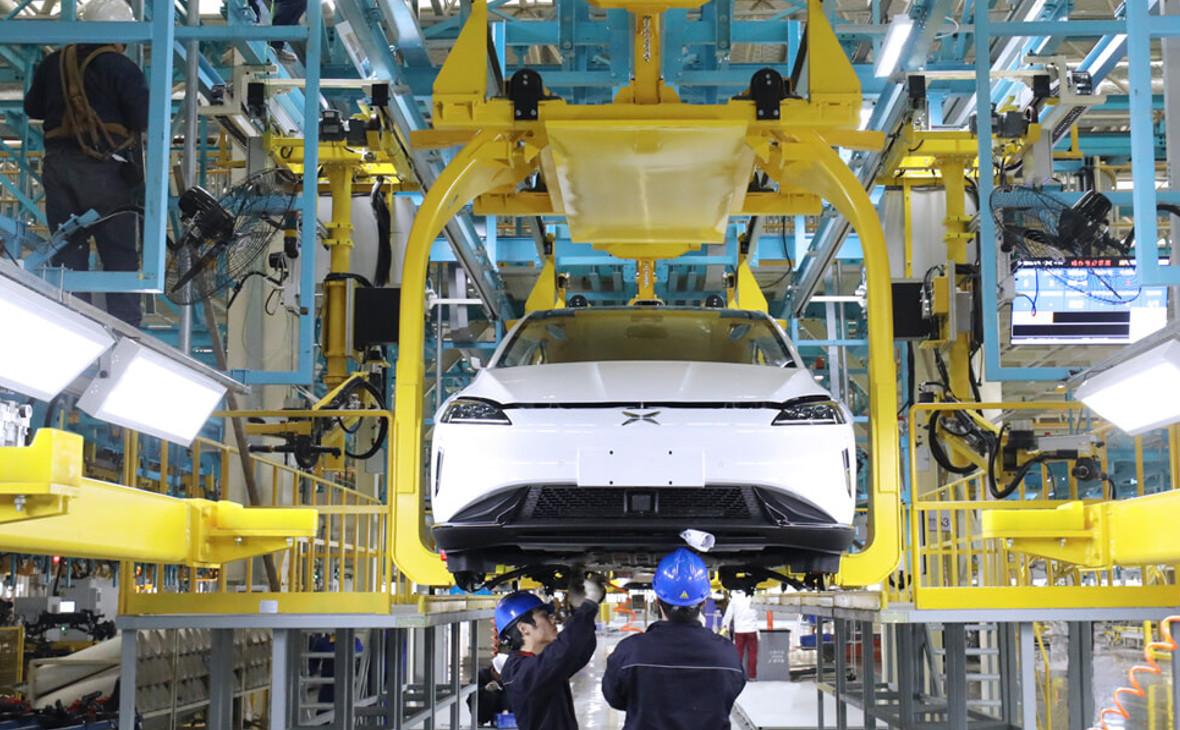 Производство автомобиля Xpeng G3 на фабрике Haima