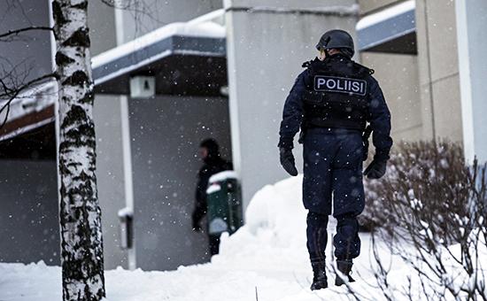 Сотрудники полиции вФинляндии, архивное фото