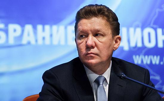 Предправления «Газпрома» Алексей Миллер во время годового собрания акционеров компании «Газпром», 30 июня 2016 года