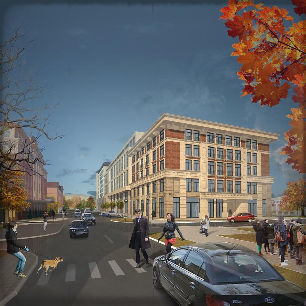 Проект административного здания с жилым корпусом в Оренбурге