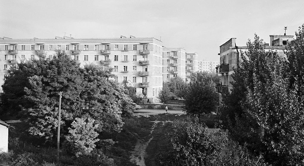 Жилые дома вмикрорайоне Рышкановка. Кишинев, МолдавскаяССР. 1966 год