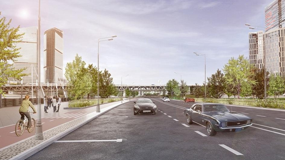 К 2017 году в районе Краснопресненской набережной построят и реконструируют около 3,3 км дорог