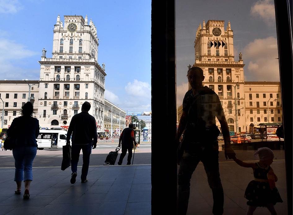 Минск. Ворота города на Привокзальной площади