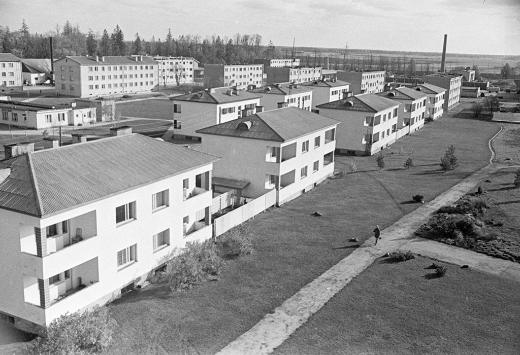 Поселок Саку, ЭстонскаяССР. 1971 год