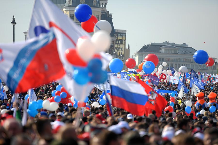 Шествие началось в 10:00 мск на Васильевском спуске
