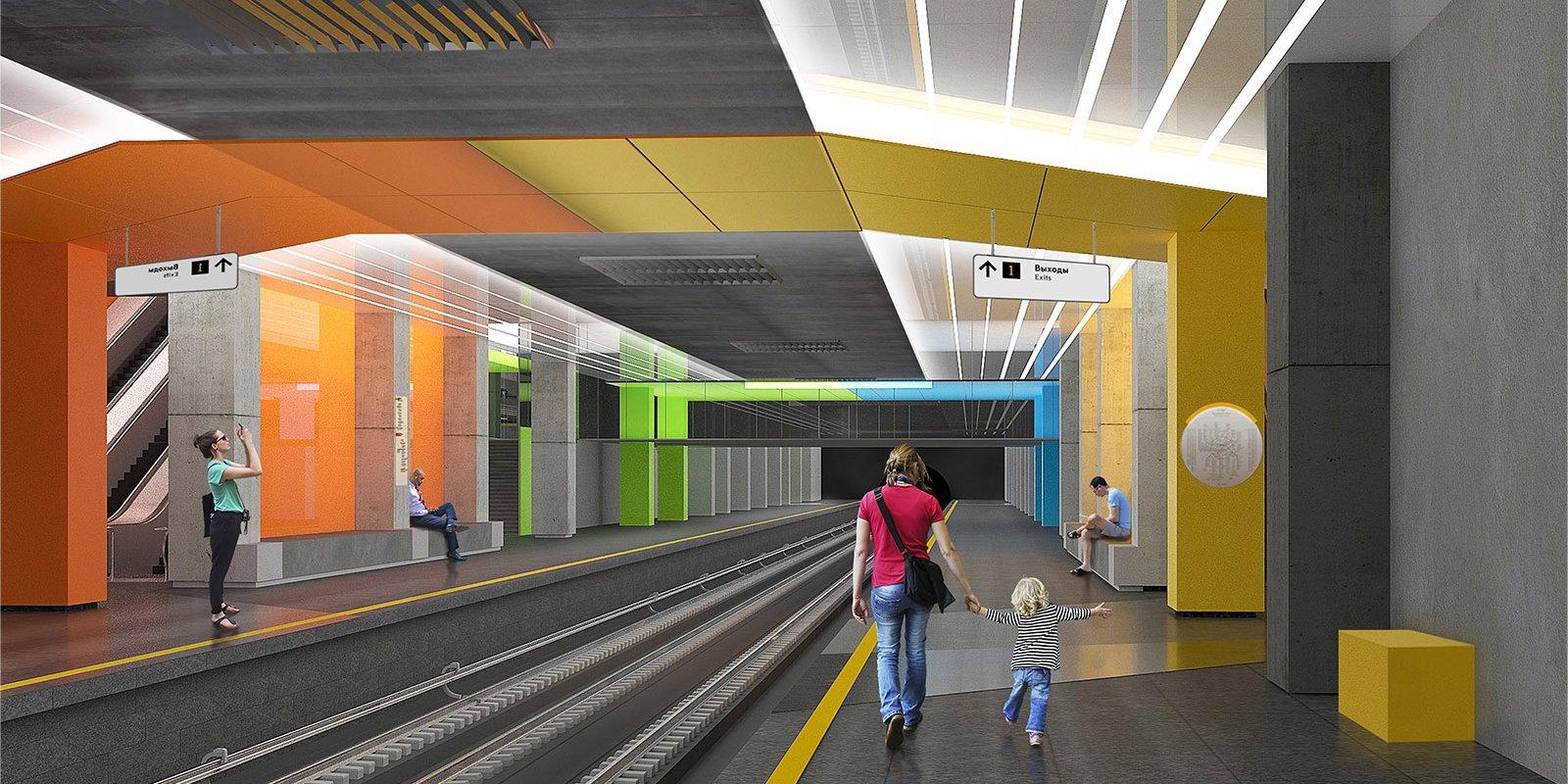 Проект станции «Нижегородская» Некрасовской линии