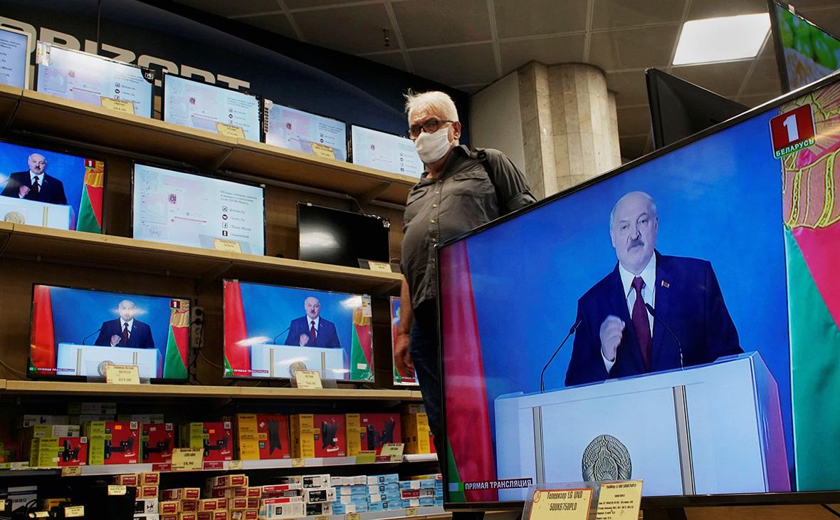 Трансляция послания президента Белоруссии Александра Лукашенко к народу и Национальному собранию