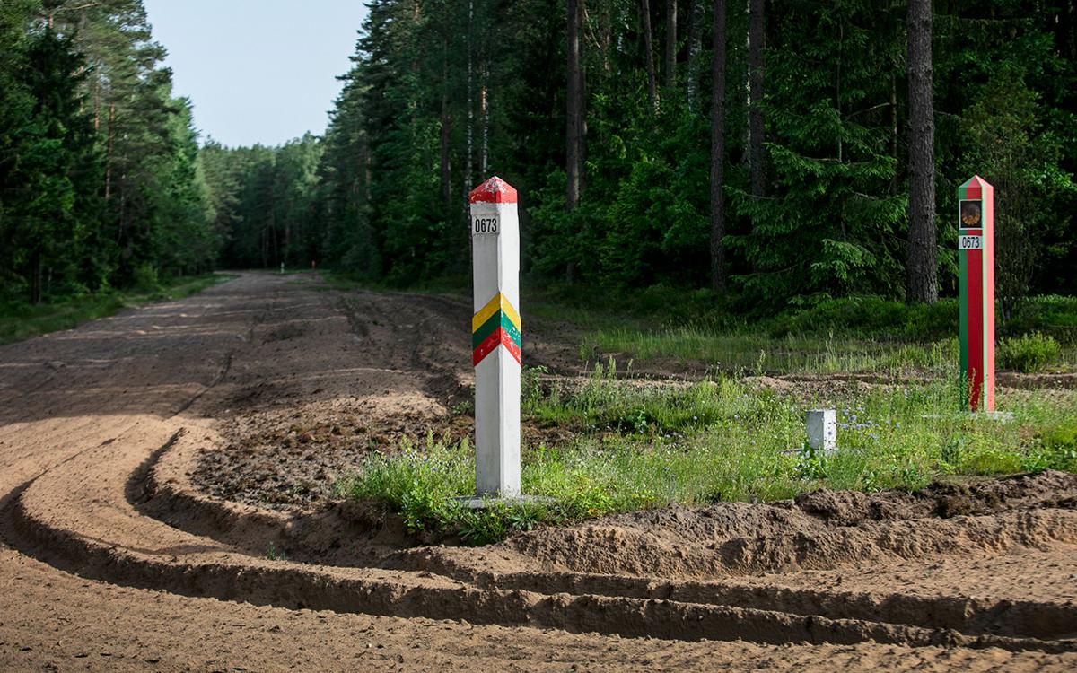 Граница между Литвой и Белоруссией