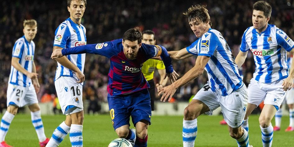 "Фото:Матч Ла Лиги между ""Барселоной"" и ""Сосьедадом"" Фото: Xinhua/Global Look Press"