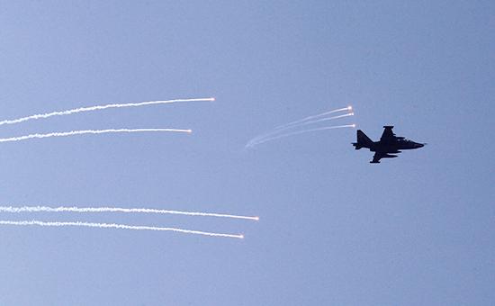 Самолет ВВС Украины вовремя учений