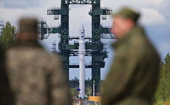 Перед началом испытательного запуска ракеты легкого класса «Ангара». Архивное фото