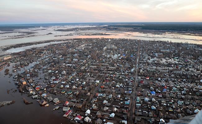 Паводок в Великом Устюге в марте 2016 года