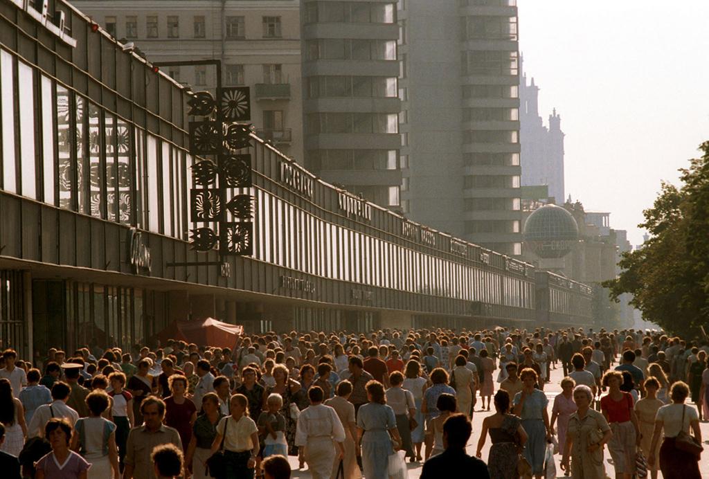 Час пикна проспекте Калинина, 1986 год