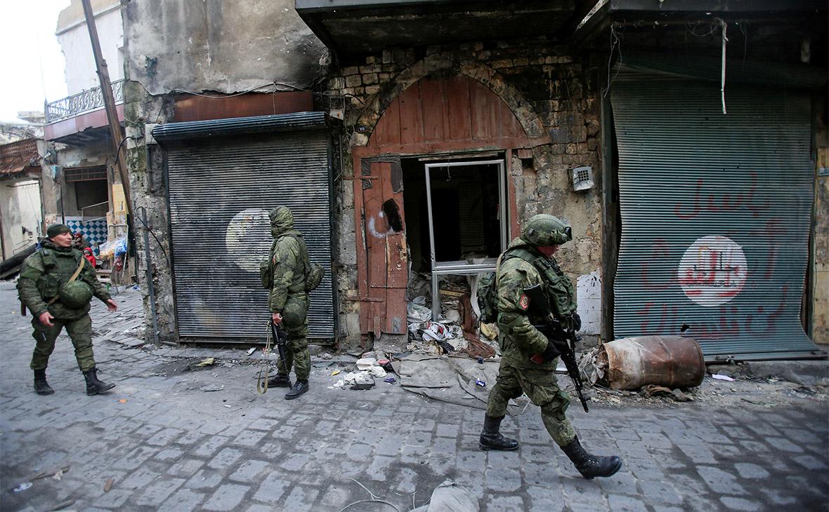 Российские солдаты в Алеппо