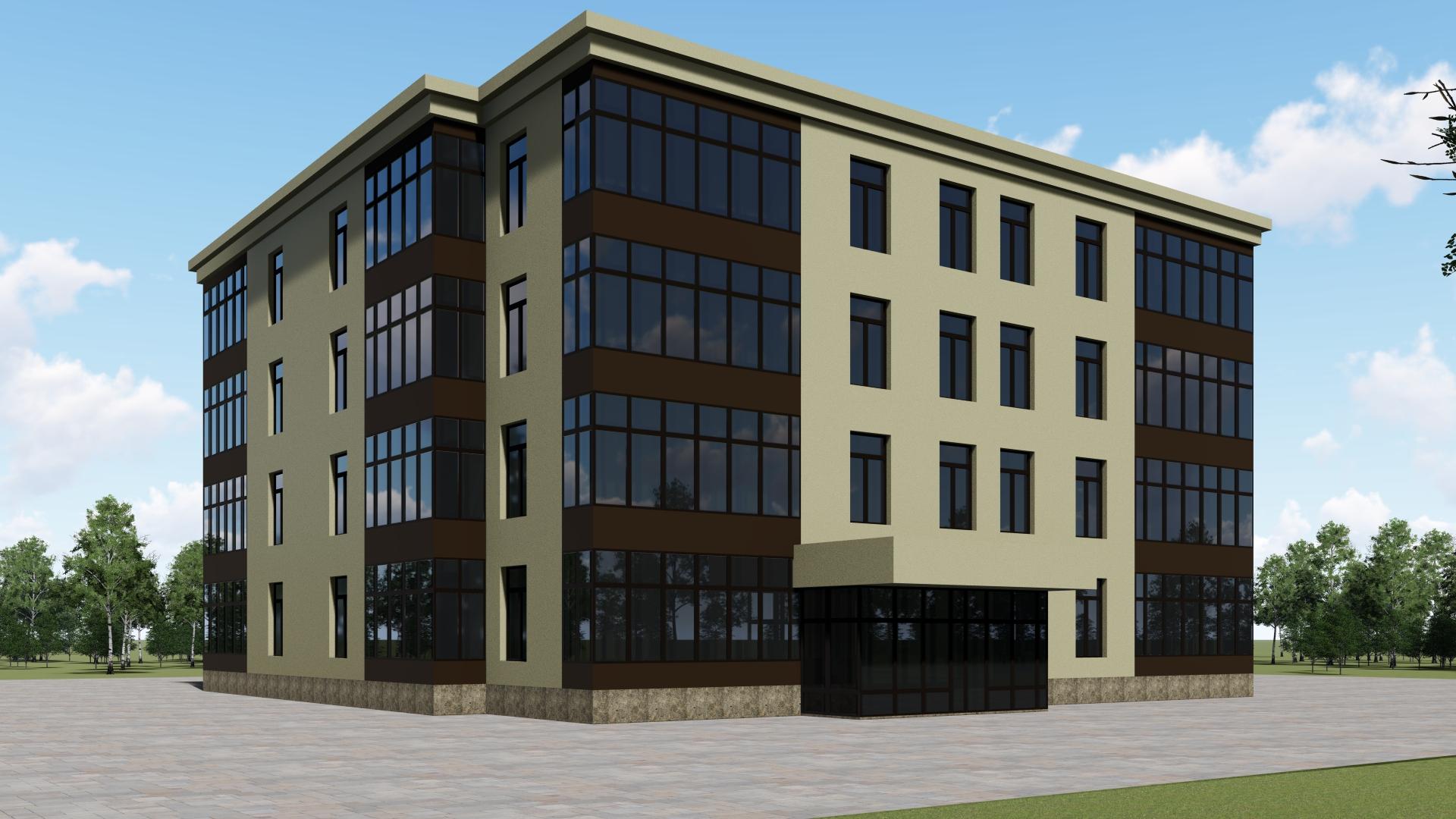 LVL-брус применяется и при возведении многоквартирных домов. Четырехэтажный деревянный быстровозводимый дом