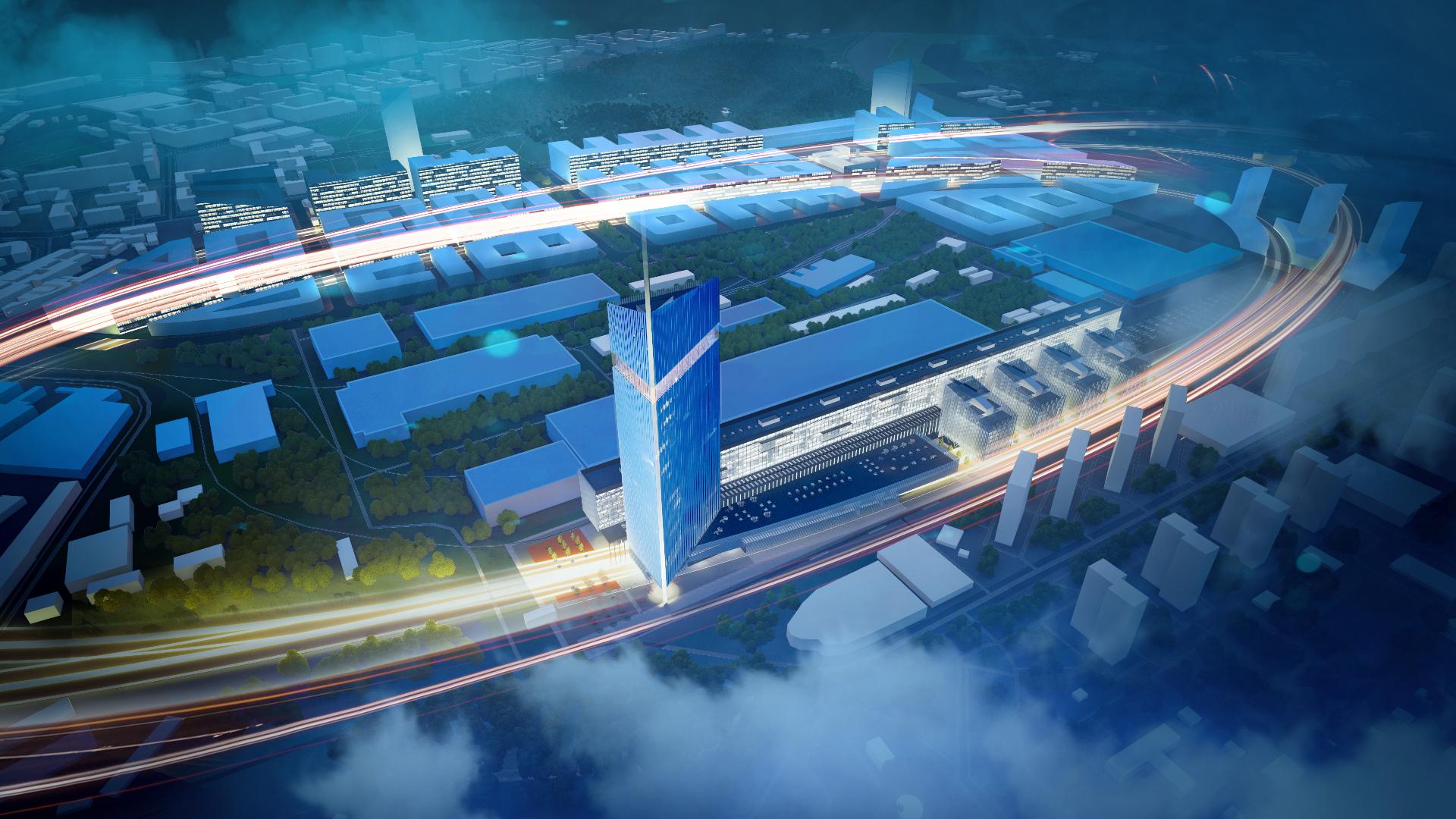 Проектный вид Национального космического центра. Визуализация с сайта roscosmos.ru