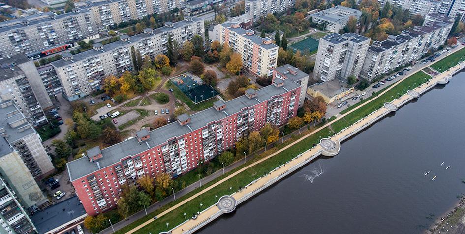 Вид сверху на Калининград