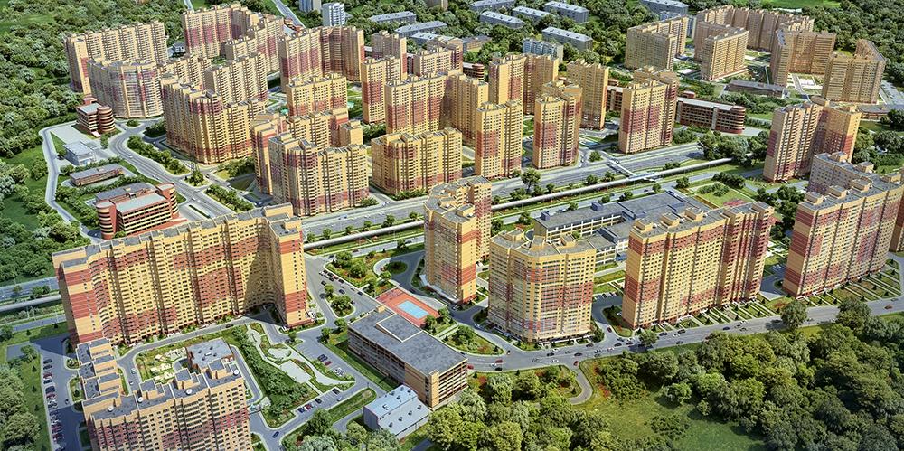 Визуализация нового микрорайона в Балашихе